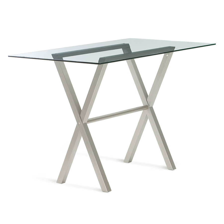 Andre Glass + Metal Modern Bar Table by Amisco