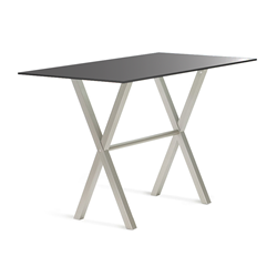 Andreas Black Glass + Metal Modern Counter Height Table