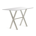 Andreas White Glass + Metal Modern Counter Height Table