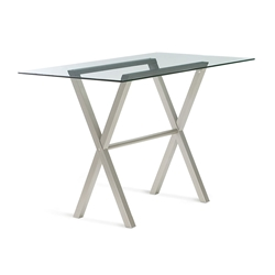 Andre Glass + Metal Modern Counter Table by Amisco