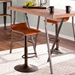 Andrew Contemporary Brown + Antique Adjustable Stool