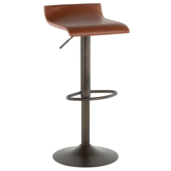 Andrew Modern Brown + Antique Adjustable Stool