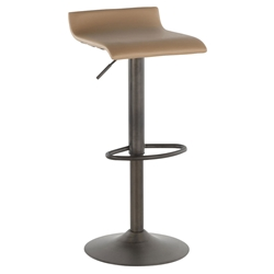 Andrew Modern Camel + Antique Adjustable Stool
