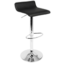 Andrew Adjustable Black Modern Bar Stool