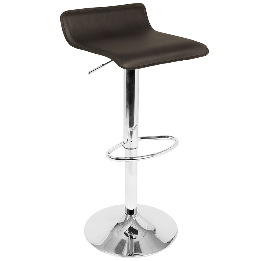 Andrew Modern Brown Adjustable Bar Stool