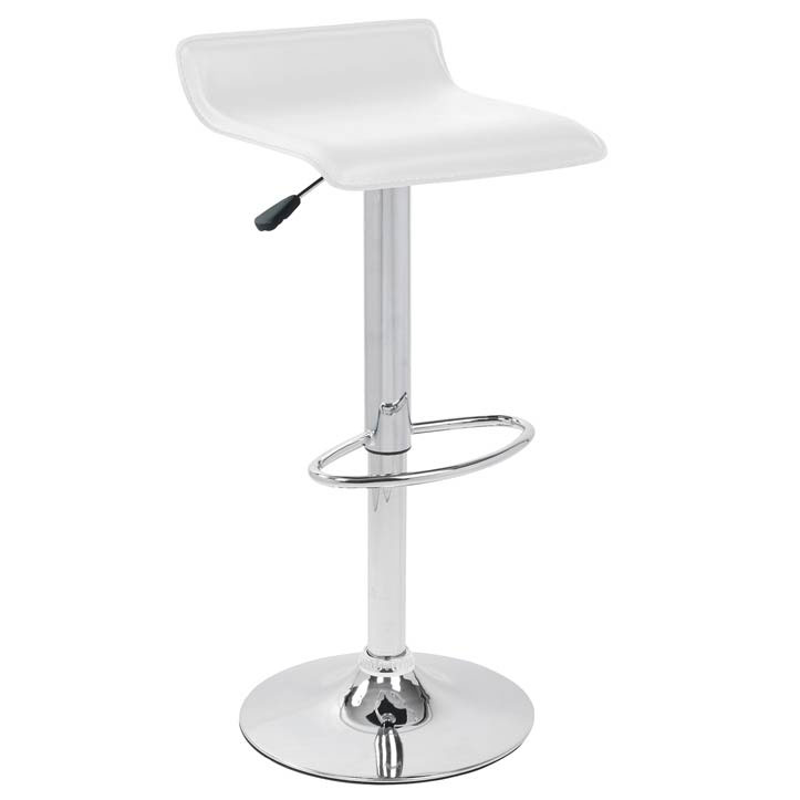 Andrew Modern White Adjustable Bar Stool