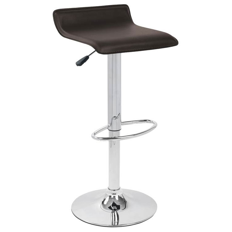 Andrew Adjustable Brown Modern Bar Stools