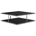 Modloft Ann Black Marble Square Modern Coffee Table