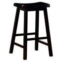Anna Black-Stained Modern Bar Stool