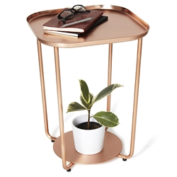Annex Modern Copper Side Table by Umbra