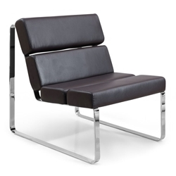 Annie Modern Lounge Chair in Chocolate Brown