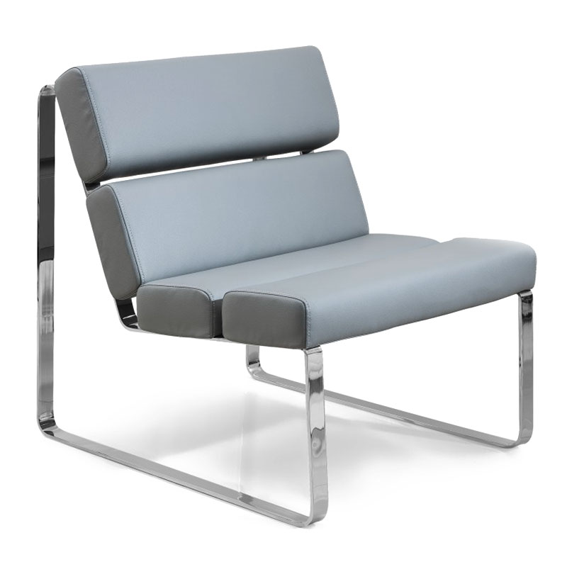 Annie Modern Lounge Chair in Gray