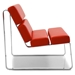 Annie Modern Lounge Chair in Red - Side View