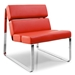 Annie Modern Lounge Chair in Red