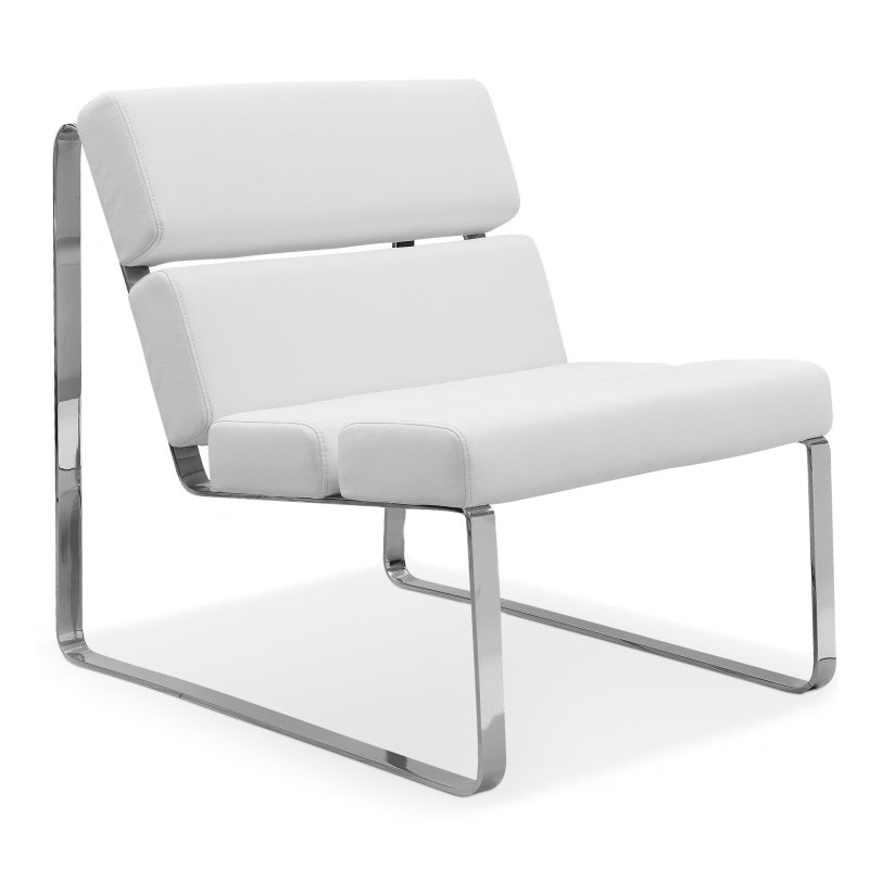 Angel Modern Lounge Chair in White