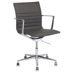 Antonio Modern Gray Naugahyde Office Chair
