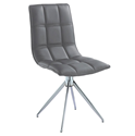 Apollo Gray Modern Swivel Dining Chair