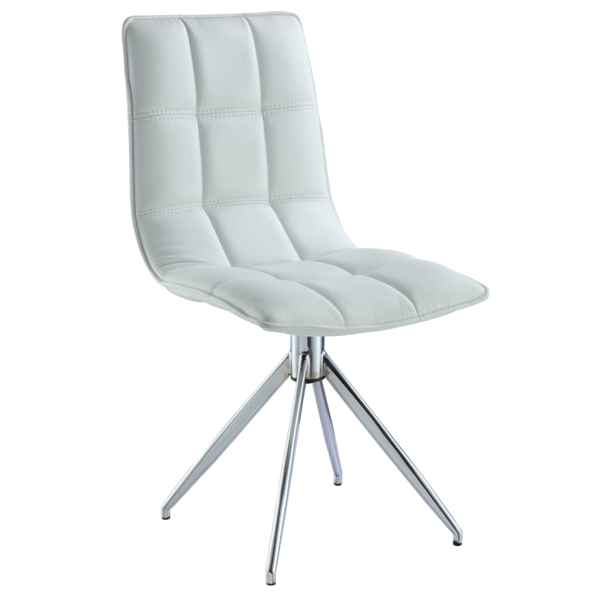 Apollo white modern swivel dining chair eurway for Swivel chair dining sets