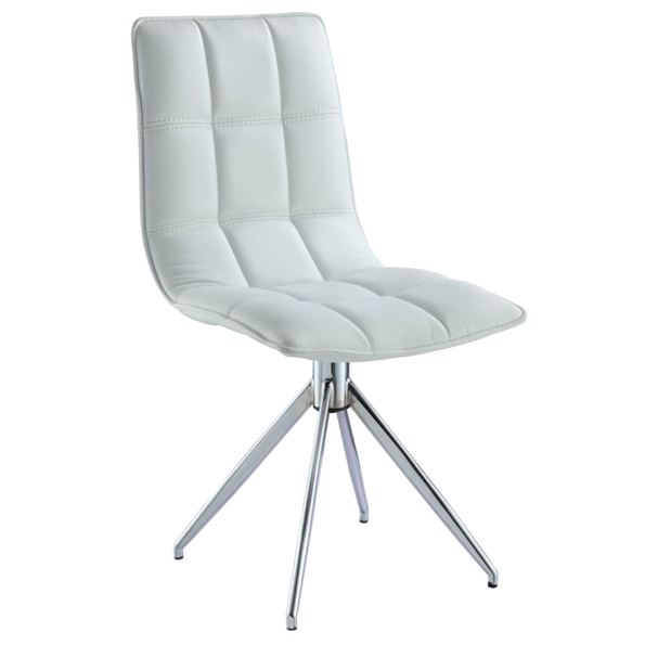 Apollo White Modern Swivel Dining Chair