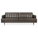 Gus* Modern Archer Sofa in Saddle Gray Leather
