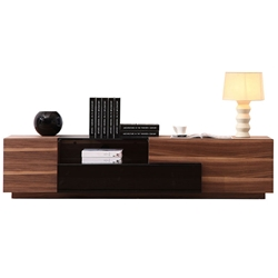 Modern TV Stands - Archer TV Stand Light Walnut + Black