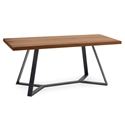 Archie-200 Modern Walnut Dining Table by Domitalia