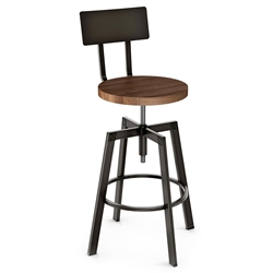 Amisco Architect Adjustable Stool - Harley Metal