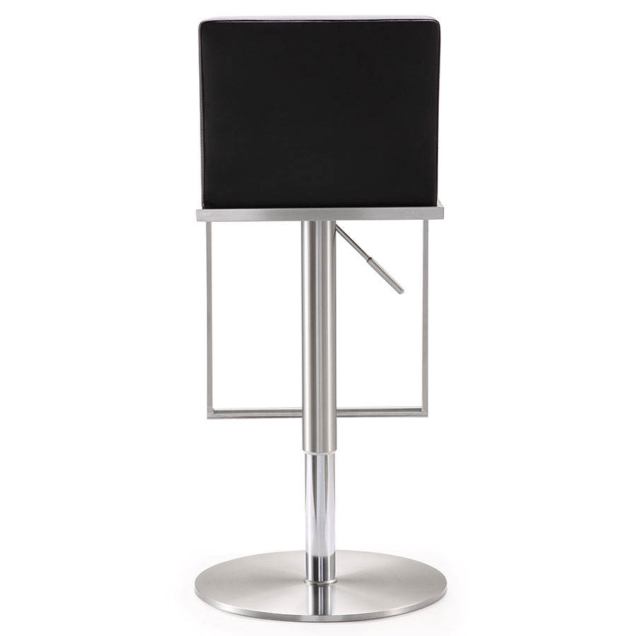 Marvelous Adjustable Stool With Back Part - 11: ... Ardennes Modern Black Adjustable Stool - Back View ...
