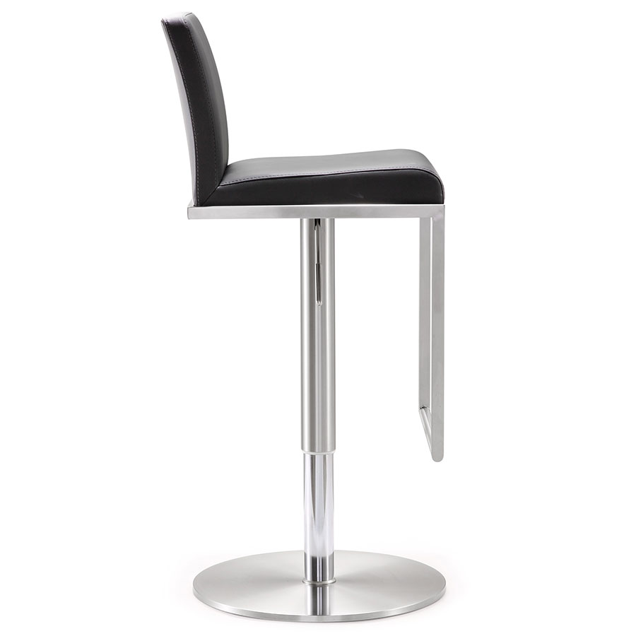 ... Ardennes Modern Black Adjustable Stool - Side View ...  sc 1 st  Eurway & Modern Stools | Ardennes Black Adjustable Stool | Eurway islam-shia.org