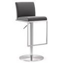 Ardennes Modern Gray Adjustable Height Stool
