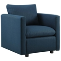 Armand Contemporary Azure Armchair