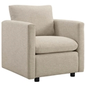 Armand Contemporary Beige Armchair