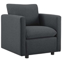 Armand Contemporary Gray Armchair
