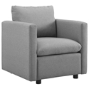 Armand Contemporary Light Gray Armchair