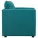 Armand Contemporary Teal Armchair - Side View
