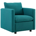Armand Contemporary Teal Armchair