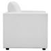Armand Contemporary White Armchair - Side View
