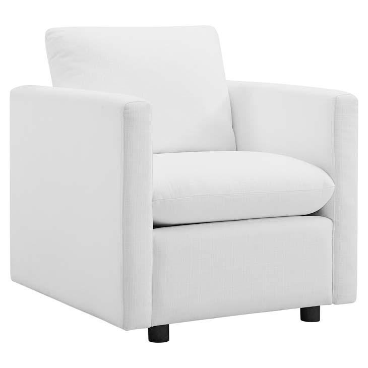 Armand Contemporary White Armchair