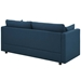 Armand Contemporary Azure Sofa - Back Vieq