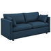 Armand Contemporary Azure Sofa