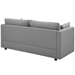 Armand Contemporary Light Gray Sofa - Back Vieq