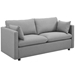 Armand Contemporary Light Gray Sofa