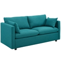 Armand Contemporary Teal Sofa