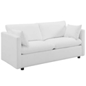 Armand Contemporary White Sofa