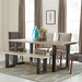 Arnold Contemporary Free Edge Dining Table