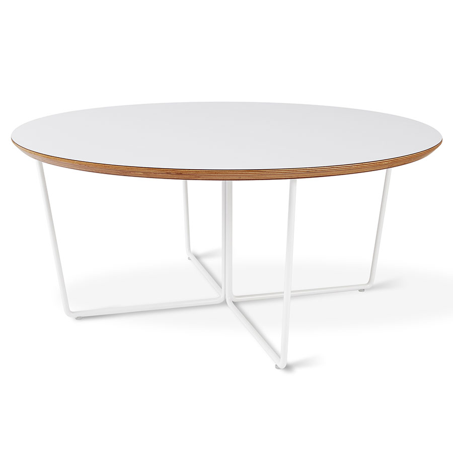 Gus* Modern Array White Round Coffee Table