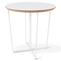 Array White Laminate + Powder Coated Metal Modern Side Table
