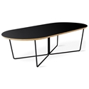 Gus* Modern Black Oval Coffee Table