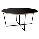 Gus* Modern Black Round Coffee Table