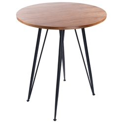 Artem American Walnut + Matte Black Modern Bar Table